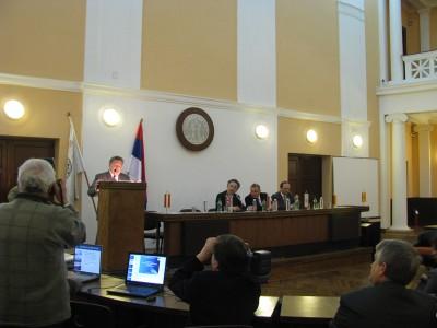 Prof. dr Miroljub Grozdanovic, Rector of the University of Nis